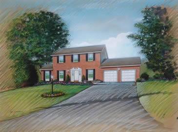 Pastel House Rendering