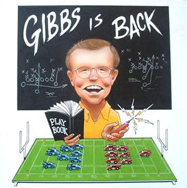 Cartoon Joe Gibbs