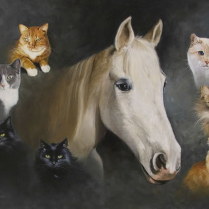 Horses and Cats Portrait