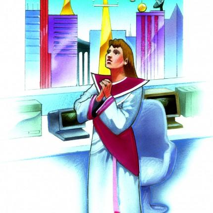 Illustration Praying