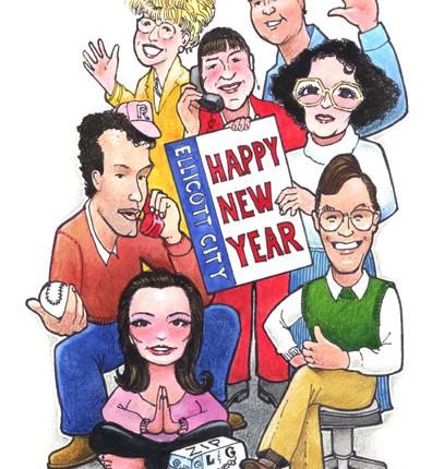 Cartoon New Year