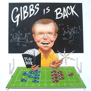 Cartoon Joe Gibbs