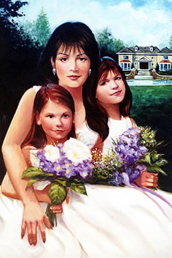 Lady and Girls Portrait